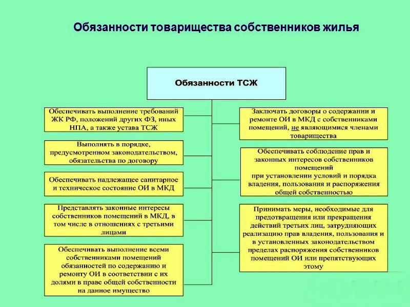 Права и обязанности собственников и членов ТСЖ