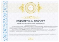 Кадастровый паспорт